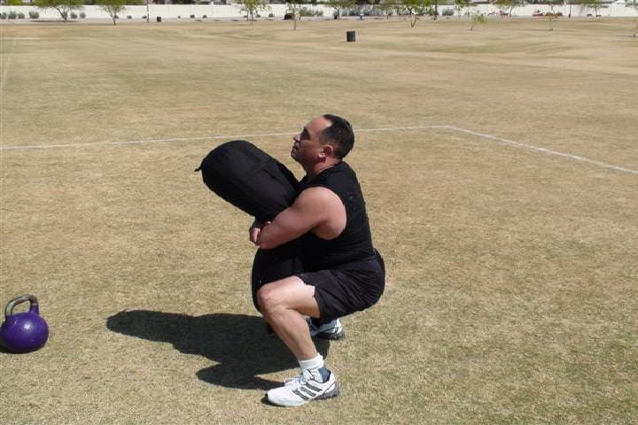 sandbag training - bear hug